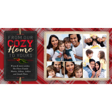 Christmas Photo Cards 4x8 Flat Card Set, 85lb, Card & Stationery -Our Cozy Home to Yours