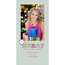 Christmas Photo Cards 4x8 Flat Card Set, 85lb, Card & Stationery -Merry Holiday