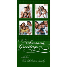 Christmas Photo Cards 4x8 Flat Card Set, 85lb, Card & Stationery -Season's Greetings with love