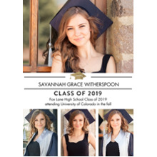 2019 Graduation Announcements 5x7 Cards, Premium Cardstock 120lb with Rounded Corners, Card & Stationery -2019 Traditional by Tumbalina