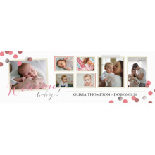 Baby + Kids Photo Banner 2x6, Home Decor -Babys Debut