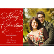 Christmas Photo Cards 5x7 Cards, Premium Cardstock 120lb with Scalloped Corners, Card & Stationery -Chalkboard Merry Christmas