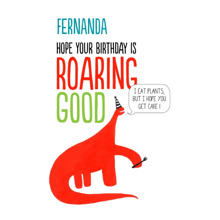 Birthday Greeting Cards 5x7 Folded Cards, Premium Cardstock 120lb, Card & Stationery -Roaring Good Birthday
