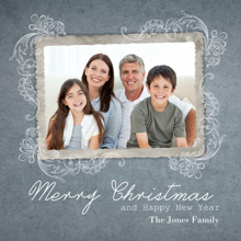 Christmas Photo Cards 5x5 Flat Card Set, 85lb, Card & Stationery -Vintage Merry Christmas