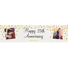 Anniversary Photo Banner 2x8, Home Decor -Gold Anniversary