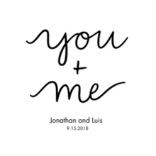 Non Photo Canvas Print, 20x24, Home Decor -You Me (canvas)