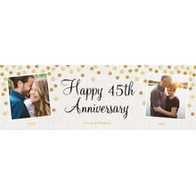 Anniversary 1x3 Peel, Stick & Reuse Banner, Home Decor -Gold Anniversary