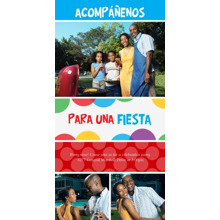 Birthday Party Invites 4x8 Flat Card Set, 85lb, Card & Stationery -Acomp????enos para una fiesta