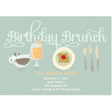 Birthday Party Invites 5x7 Cards, Premium Cardstock 120lb with Rounded Corners, Card & Stationery -Birthday Brunch