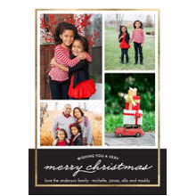 Christmas Photo Cards 5x7 Cards, Premium Cardstock 120lb with Scalloped Corners, Card & Stationery -Christmas Border