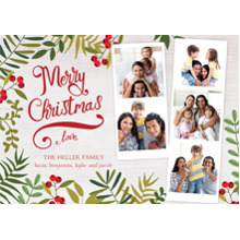 Christmas Photo Cards 5x7 Cards, Premium Cardstock 120lb with Scalloped Corners, Card & Stationery -Botanical Christmas