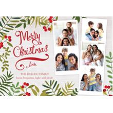 Christmas Photo Cards 5x7 Cards, Premium Cardstock 120lb with Elegant Corners, Card & Stationery -Botanical Christmas