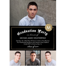 2019 Graduation Announcements 5x7 Cards, Premium Cardstock 120lb with Scalloped Corners, Card & Stationery -2019 Grad Party Diploma by Tumbalina