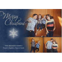 Christmas Photo Cards 5x7 Cards, Premium Cardstock 120lb with Rounded Corners, Card & Stationery -Merry Christmas Snowflake