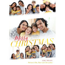 Christmas Photo Cards 5x7 Cards, Premium Cardstock 120lb with Rounded Corners, Card & Stationery -Christmas Memories by Posh Paper