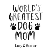 Non-Photo Wood Hanger Board Print, 11x14, Home Decor -Worlds Greatest Dog