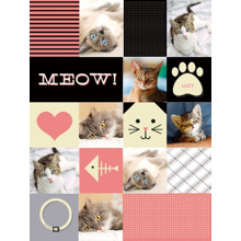 Pets Fleece Blanket, 60x80, Gift -Cat Collage