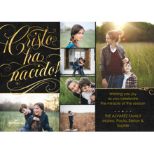 Christmas Photo Cards 5x7 Cards, Premium Cardstock 120lb with Rounded Corners, Card & Stationery -Cristo ha Nacido Collage