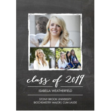 2019 Graduation Announcements 5x7 Cards, Premium Cardstock 120lb with Rounded Corners, Card & Stationery -2019 Grad Gold Stroke by Tumbalina