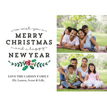 Christmas Photo Cards 5x7 Cards, Premium Cardstock 120lb with Elegant Corners, Card & Stationery -Splendid Christmas & New Year