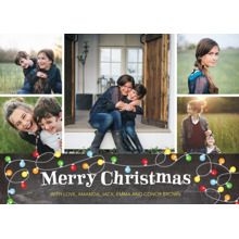 Christmas Photo Cards 5x7 Cards, Premium Cardstock 120lb with Elegant Corners, Card & Stationery -Christmas Lights