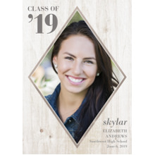 2019 Graduation Announcements 5x7 Cards, Premium Cardstock 120lb with Scalloped Corners, Card & Stationery -Diamond Frame Class of 2019 by Hallmark