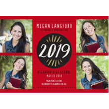 2019 Graduation Announcements 5x7 Cards, Premium Cardstock 120lb with Scalloped Corners, Card & Stationery -Brushed 2019 by Hallmark
