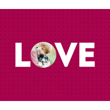 Love Fleece Blanket, 50x60, Gift -Love Cutout