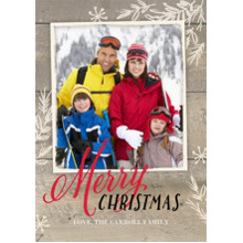 Christmas Photo Cards 5x7 Cards, Premium Cardstock 120lb with Rounded Corners, Card & Stationery -Rustic Twigs Christmas by Gartner