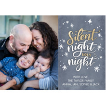 Christmas Photo Cards 5x7 Cards, Premium Cardstock 120lb with Elegant Corners, Card & Stationery -Christmas Silent Night Stars by Tumbalina