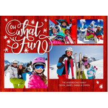 Christmas Photo Cards 5x7 Cards, Premium Cardstock 120lb with Rounded Corners, Card & Stationery -Christmas Oh What Fun