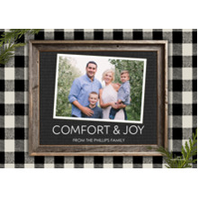 Christmas Photo Cards 5x7 Cards, Premium Cardstock 120lb with Elegant Corners, Card & Stationery -Comfort & Joy Letter Board