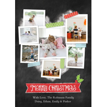 Christmas Photo Cards 5x7 Cards, Premium Cardstock 120lb with Rounded Corners, Card & Stationery -Christmas Heart