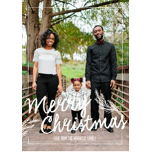 Christmas Photo Cards 5x7 Cards, Premium Cardstock 120lb with Elegant Corners, Card & Stationery -Signature Chalk Greetings