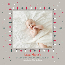 Christmas Photo Cards 5x5 Flat Card Set, 85lb, Card & Stationery -Festive First Christmas