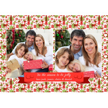 Christmas Photo Cards 5x7 Cards, Premium Cardstock 120lb with Elegant Corners, Card & Stationery -Tis the Season Ribbon