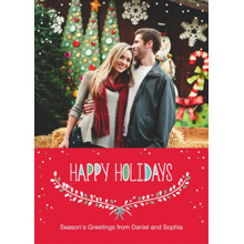 Christmas Photo Cards 5x7 Cards, Premium Cardstock 120lb with Rounded Corners, Card & Stationery -Bright Boughs