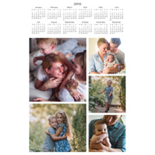 Calendar 12x18 Peel, Stick & Reuse, Home Decor -2019 Calendar - Multi Photo