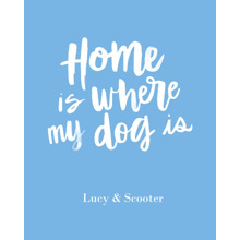 Non-Photo 16x20 Poster(s), Board, Home Decor -Home Dog