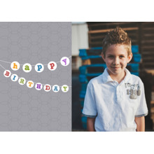 Birthday Greeting Cards 5x7 Folded Cards, Standard Cardstock 85lb, Card & Stationery -Birthday Banner
