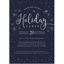 Christmas Party Invitations 5x7 Cards, Standard Cardstock 85lb, Card & Stationery -Holiday Invite Dots & Stars