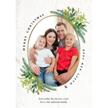 Christmas Photo Cards 5x7 Cards, Premium Cardstock 120lb with Rounded Corners, Card & Stationery -Christmas Vibrant Foliage