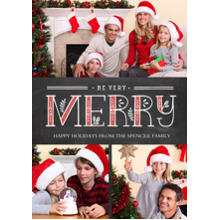 Christmas Photo Cards 5x7 Cards, Premium Cardstock 120lb with Elegant Corners, Card & Stationery -Sprigs of Merry