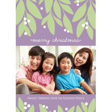 Christmas Photo Cards 5x7 Cards, Premium Cardstock 120lb with Rounded Corners, Card & Stationery -Garland Christmas