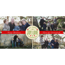 Christmas Photo Cards 4x8 Flat Card Set, 85lb, Card & Stationery -Love Joy and Laughter