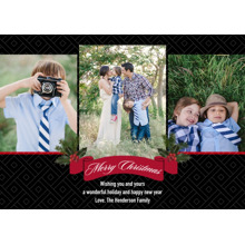 Christmas Photo Cards 5x7 Cards, Premium Cardstock 120lb with Scalloped Corners, Card & Stationery -Christmas Classic Black