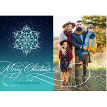Christmas Photo Cards 5x7 Cards, Premium Cardstock 120lb with Elegant Corners, Card & Stationery -Snowflakes and Sequins
