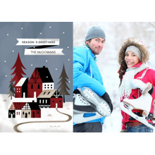 Christmas Photo Cards 5x7 Cards, Premium Cardstock 120lb with Rounded Corners, Card & Stationery -Starry Snowscape