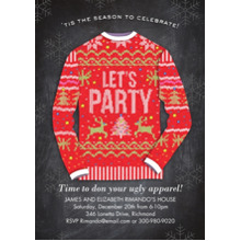 Christmas Party Invitations 5x7 Cards, Premium Cardstock 120lb with Elegant Corners, Card & Stationery -Ugly Sweater Party