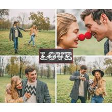 Love Plush Fleece Photo Blanket, 50x60, Gift -Love